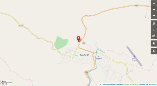 Map Alpine Bed and Breakfast in Maclear  Drakensberg (EC)  Eastern Cape  South Africa