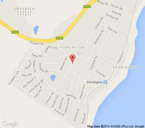 Map The Old Post Office in Pennington  South Coast (KZN)  KwaZulu Natal  South Africa