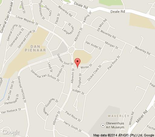 Map The Suburban  in Bloemfontein  Mangaung  Free State  South Africa
