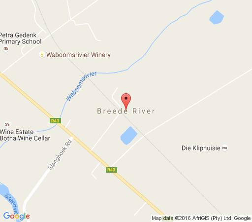 Map River Edge Accommodation in Bainskloof  Breede River Valley  Western Cape  South Africa