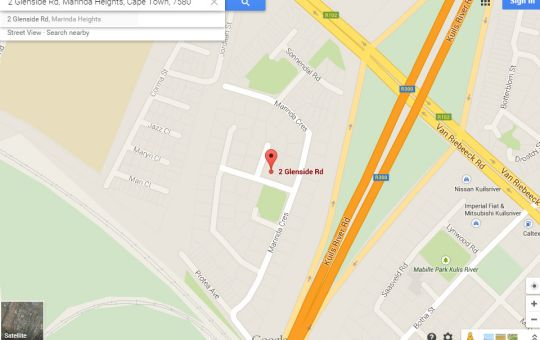 Map Turning Point Bed & Breakfast in Kuils River  Northern Suburbs (CPT)  Cape Town  Western Cape  South Africa