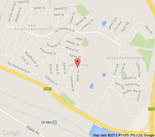 Map L&M Guesthouse in Uitenhage  Cacadu (Sarah Baartman)  Eastern Cape  South Africa