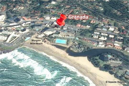 Map Seabreeze in Margate  South Coast (KZN)  KwaZulu Natal  South Africa