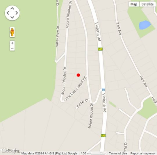 Map The Platinum Boutique Hotel in Hout Bay  Atlantic Seaboard  Cape Town  Western Cape  South Africa