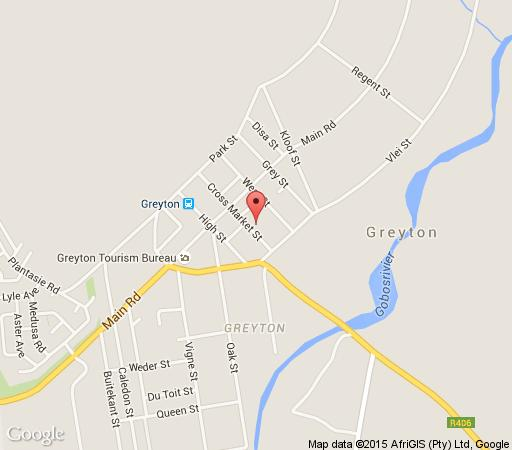 Map Marina Cottage in Greyton  Overberg  Western Cape  South Africa