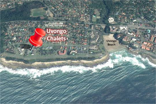 Map 14 Uvongo Chalets in Uvongo  South Coast (KZN)  KwaZulu Natal  South Africa