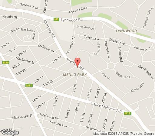 Map Moroccan House  in Menlo Park  Pretoria Central  Pretoria / Tshwane  Gauteng  South Africa