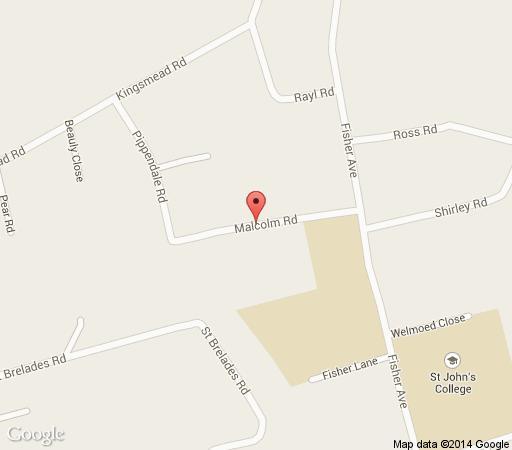 Map Malcolm Lodge in Harare  Zimbabwe