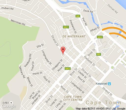 Map Molo Lolo Lodge  in De Waterkant  City Bowl  Cape Town  Western Cape  South Africa