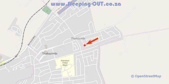 Map El Shadai Guesthouse in Thabazimbi  Waterberg  Bushveld  Limpopo  South Africa