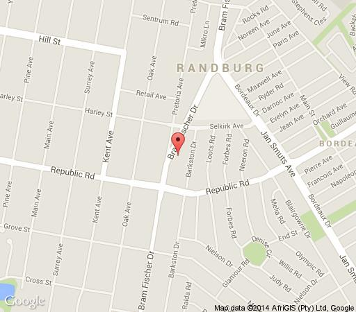 Map Apollo Conferencing Hotel in Ferndale  Randburg  Johannesburg  Gauteng  South Africa