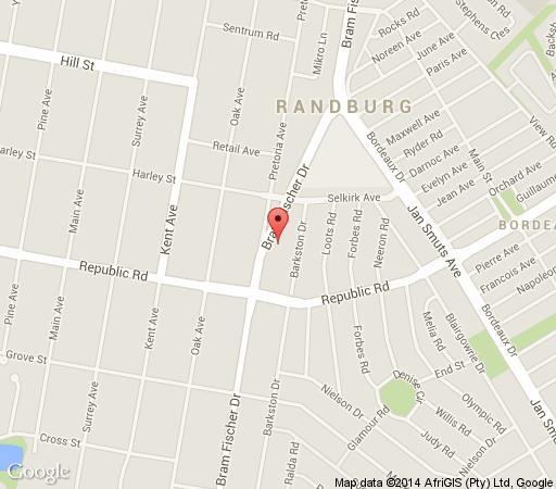 Map Apollo Conferencing Hotel in Ferndale  Randburg  Johannesburg  Gauteng  South Africa