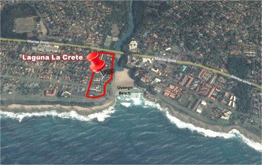 Map 199 Laguna La Crete in Uvongo  South Coast (KZN)  KwaZulu Natal  South Africa