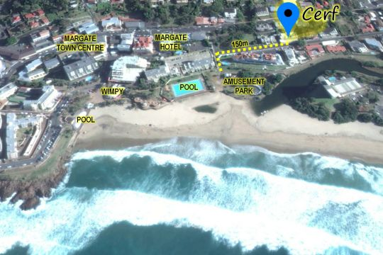 Map Cerf in Margate  South Coast (KZN)  KwaZulu Natal  South Africa