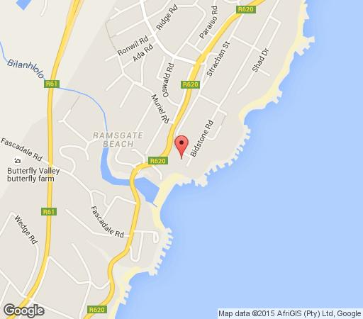 Map Seans Place in Ramsgate  South Coast (KZN)  KwaZulu Natal  South Africa