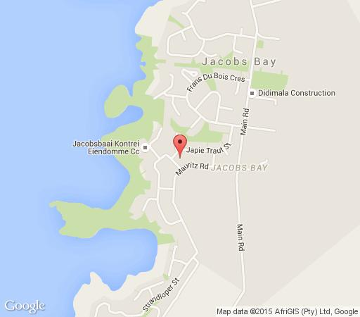 Map Whispering Whale in Jacobsbaai  West Coast (WC)  Western Cape  South Africa