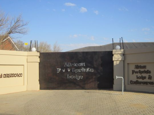 Map African Footprints Lodge in Bloemfontein  Mangaung  Free State  South Africa