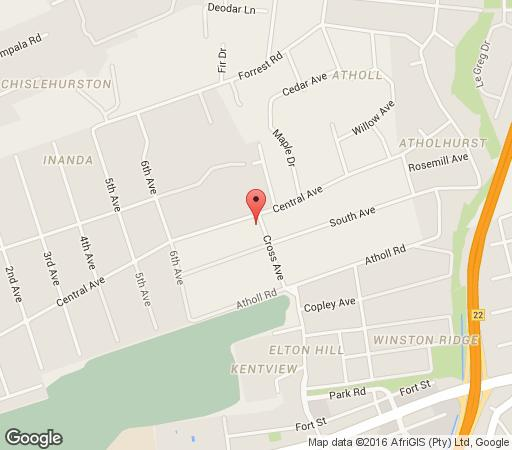 Map Anka Lodge  in Atholl  Sandton  Johannesburg  Gauteng  South Africa