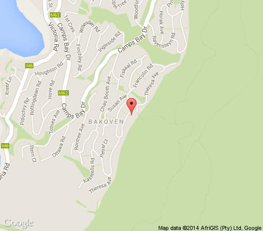 Map Villa Simona in Camps Bay  Atlantic Seaboard  Cape Town  Western Cape  South Africa