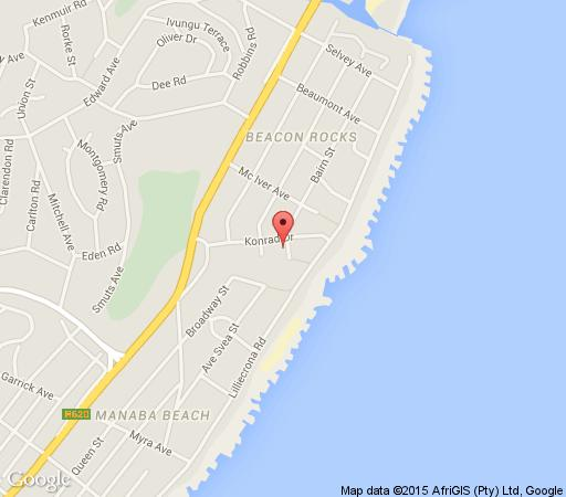 Map Angelfish Holiday Home in Uvongo  South Coast (KZN)  KwaZulu Natal  Zuid-Afrika