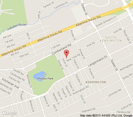 Map Kwanga Garden Cottage in Kensington (JHB)  Johannesburg East  Johannesburg  Gauteng  South Africa