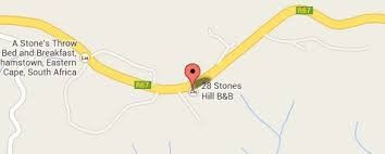Map 28 Stones Hill B&B in Grahamstown  Cacadu (Sarah Baartman)  Eastern Cape  South Africa