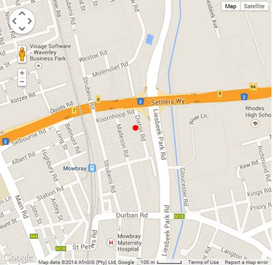 Map 20 On Dixton in Mowbray  Southern Suburbs (CPT)  Cape Town  Western Cape  South Africa