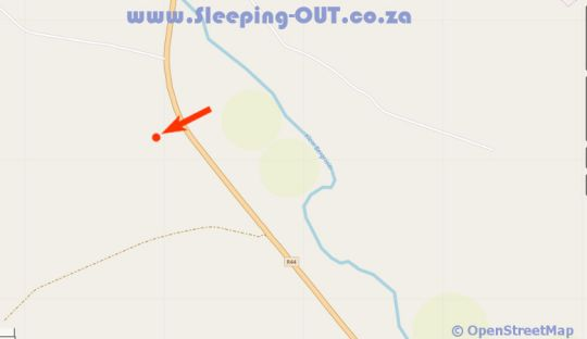 Map Buffalo Drift - Tented camp in Tulbagh  Cape Winelands  Western Cape  South Africa