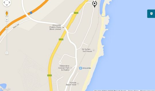 Map Amanzi Beach House in Umzumbe  South Coast (KZN)  KwaZulu Natal  South Africa