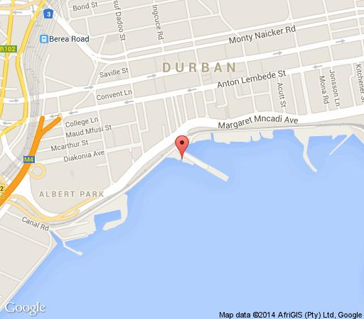 Map BP Backpackers in Durban Central  Durban  Durban and Surrounds  KwaZulu Natal  South Africa