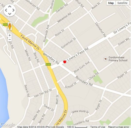 Map Cap Ou Pas Cap Guesthouse  in Gordon's Bay  Helderberg  Western Cape  South Africa