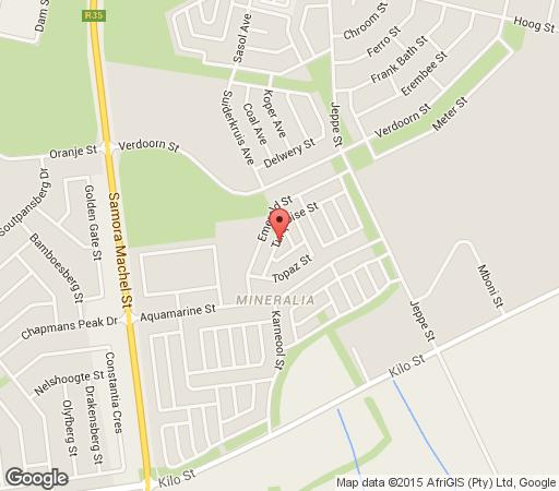 Map Turquoise View Guest House in Middelburg (MP)  Heartland  Mpumalanga  South Africa