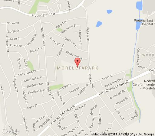 Map LilyRose in Moreleta Park  Pretoria East  Pretoria / Tshwane  Gauteng  South Africa