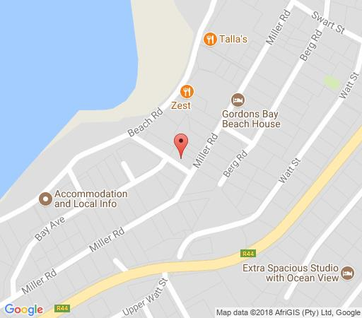 Map Die Braaihuis in Gordon's Bay  Helderberg  Western Cape  South Africa