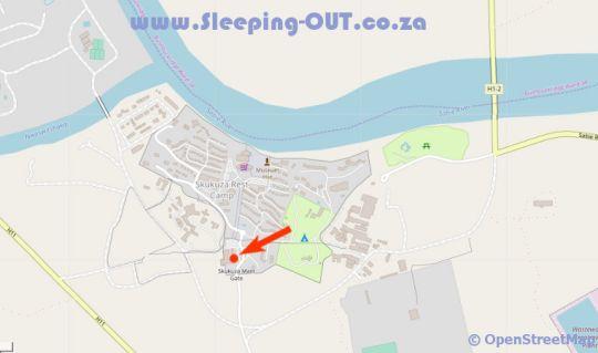 Map Imbali Safari Lodge in Kruger Gate  Kruger National Park (MP)  Mpumalanga  South Africa