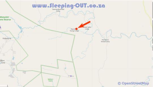 Map Hoyo Hoyo Lodge in Kruger Gate  Kruger National Park (MP)  Mpumalanga  Südafrika