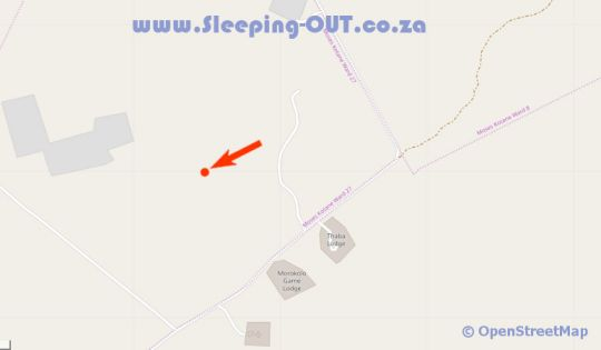 Map Black Rhino Game Lodge in Madikwe  Central (NW)  North West  Zuid-Afrika
