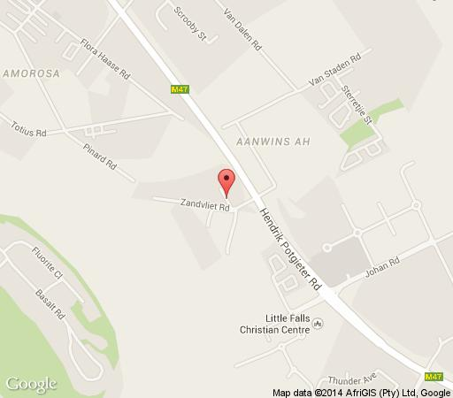 Map Eagle Nest Luxury Accommodation in Little Falls  Roodepoort  West Rand  Gauteng  South Africa
