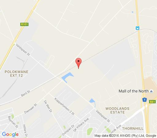 Map Broadlands Equestria Guest Farm in Polokwane  Capricorn  Limpopo  South Africa