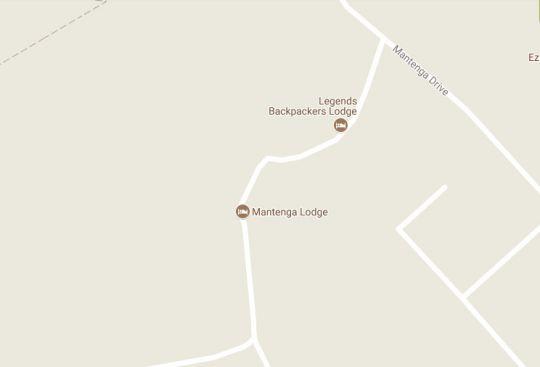 Map Mantenga Lodge in Lobamba  Hhohho  Swaziland