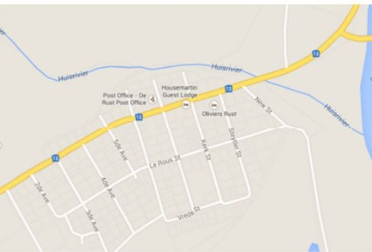 Map House Martin Guest Lodge in De Rust  Klein Karoo  Western Cape  South Africa
