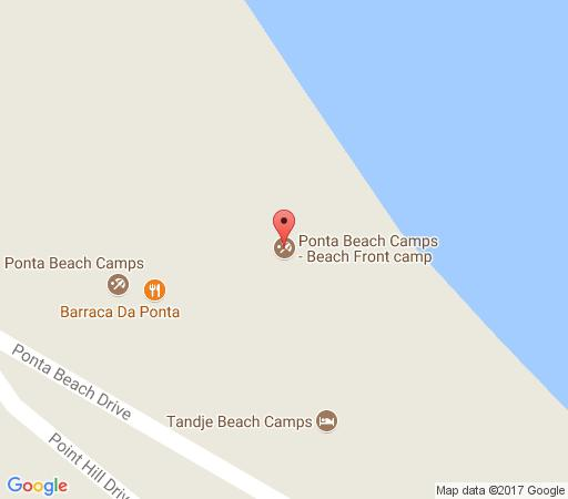 Map Ponta Beach Camps - Beach Front Camp in Ponta d'Ouro  Maputo  Mozambique