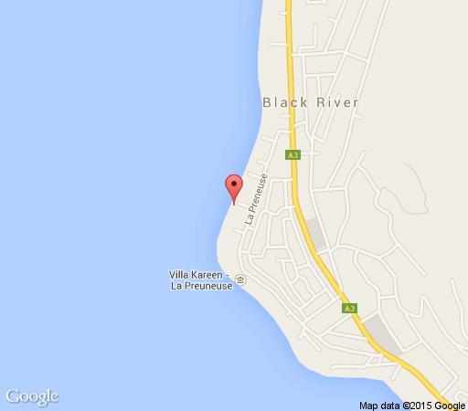 Map Leora Beachfront Suite in Tamarin  Mauritius
