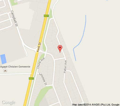 Map Mmilo Guesthouse in Polokwane  Capricorn  Limpopo  South Africa