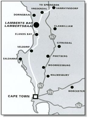 Map Sir Lambert\'s Guest House in Lambert's Bay  West Coast (WC)  Western Cape  South Africa