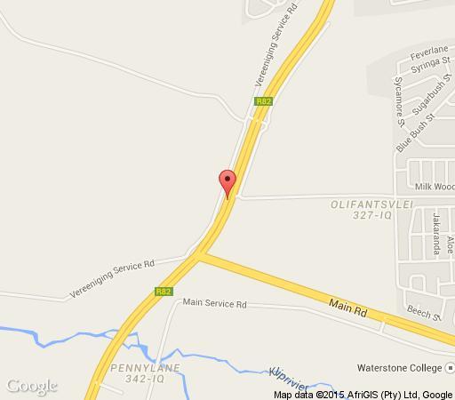 Map Ibis Nest Guest Lodge in Heidelberg  Sedibeng District  Gauteng  South Africa