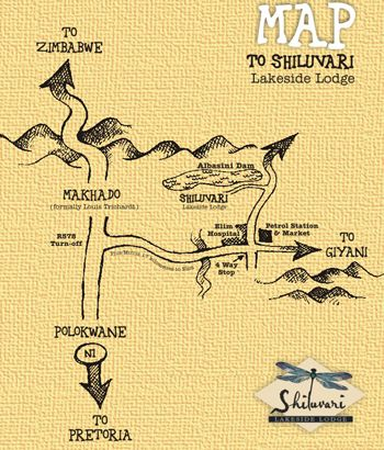 Map Shiluvari Lakeside Lodge in Louis Trichardt  Soutpansberg  Limpopo  South Africa