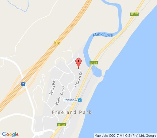 Map The Dugong Guest House in Scottburgh  South Coast (KZN)  KwaZulu Natal  South Africa