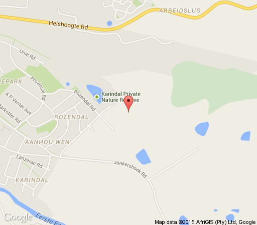 Map Rozendal Guest Farm in Stellenbosch  Cape Winelands  Western Cape  South Africa
