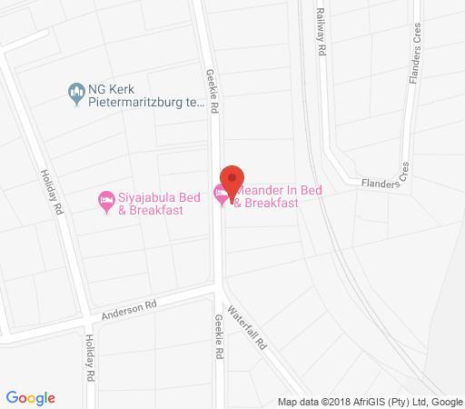 Map Meander In B & B in Howick  Midlands  KwaZulu Natal  South Africa